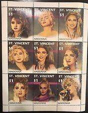 Saint Vincent & The Grenadines- 1991 Madonna Stamp Sheetlet of 9 scott #1504