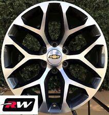 20 inch Chevy Silverado Snowflake Wheels OE Replica Rims Gunmetal Machined 6x5.5