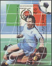 LAOS Bloc N°84** Bf Football Mexico '86, 1985, Soccer world cup Sheet MNH