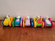 Disney 101 Dalmatians McDonalds Happy Meal Toy Flop Cars Lot of 5