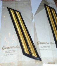 38 Vintage WWII GOLD BULLION patch STRIPES Ideal for THEATRE COSTUME  or UNIFORM