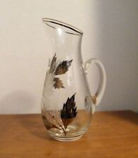 Silver Overlay & Etched Crystal Pitcher from Portugal