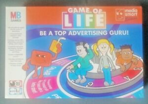"""MB Game of life board game """" Be top of advertising guru!"""" new, in sealed box."""