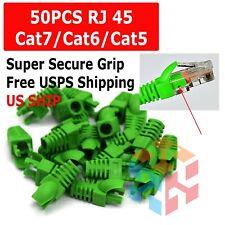 Lot 50 Green RJ45 Connector Modular End Cap Boot Head CAT5 Plug CAT6 CAT5E Cable