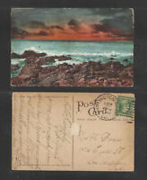 1910 SUNSET ON THE PACIFIC OCEAN CALIFORNIA ? POSTCARD