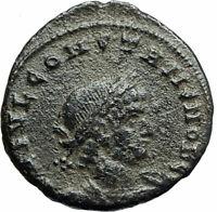 CONSTANS Constantine I son 333AD Ancient Roman Coin LEGIONS Standards i75820