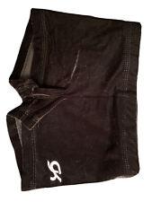 New listing GK Elite SHORTS Leotard BLACK Velvet Velour Gymnastics Size: AXS