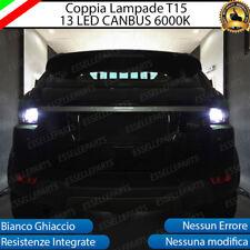 COPPIA LED RETROMARCIA T15 W16W CANBUS RANGE ROVER EVOQUE + EVOQUE CABRIO 6000K
