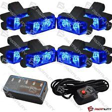 16 LED Blue Light Grill Emegency Utility Warning Strobe Flash Hazard