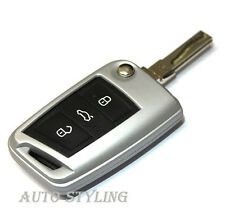 Silver Key Cover For Seat Leon Case Remote Fob Protector 3 III MK3 5F SC ST 40s