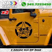 2 ADESIVI 40cm STELLA MILITARE stickers AUTO OFF ROAD JEEP FUORISTRADA 4X4