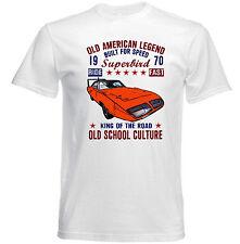 VINTAGE VOITURE AMÉRICAINE PLYMOUTH SUPERBIRD 1-Nouveau T-shirt en coton