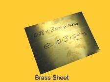 Brass Sheet 0.28 x 300 x 400 mm-Steam-Mill-Model-Weld-OG
