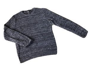 H & M Crew Neck Sweater Men's Medium 100% Cotton Black & White