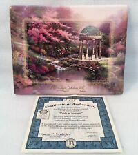 Bradford Exchange Gardens Of Faith Collector Plate by Thomas Kinkade 2nd in Seri