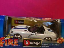 BURAGO SUPERBE DODGE VIPER RT/10 NEUF EN BOITE 1/43 E3
