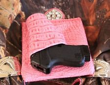 "SIG P220 P224 P229 P232 P239 Purse Holster PINK GATOR RH 4"" Creative Conceal"