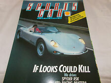 SPORTS CAR WORLD - 1985 - OZ MAGAZINE- SPYDER RSK - BRABHAM - FERRARI