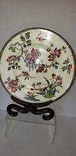 WEDGWOOD Bone China ENAMEL Garden Flowers, Bird Antique Dinner Plate