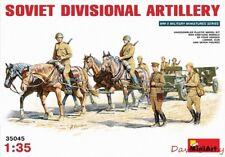 MiniArt 35045 1:35th Scale Soviet Divisional Artillery 4 Pferde Limber ZIS-3 Pistole