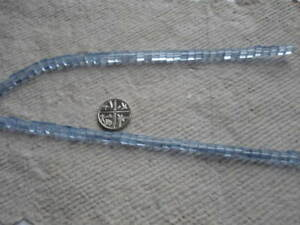 Strand Glass Cube Beads ~ 4mm ~ Sky Blue