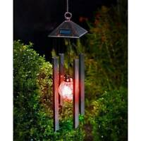 Solar Powered Color Changing LED Wind Chimes Bells Home Garden Decor Light Lamp