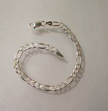 """925 Sterling Silver Baby/Childrens Solid Figaro Bracelet, Length  6"""" Now in SALE"""