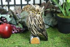Furry Animal Feather Brown OWL Bird Taxidermy Owls Figurine Decor Dabin