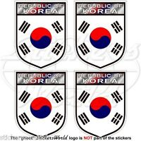 "SOUTH KOREA Shield ROK Korean 50mm (2"") Vinyl Bumper-Helmet Stickers, Decals x4"