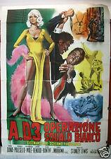 A.D.3 Operazione Squalo Bianco (Rod Dana) Italian Movie Poster (4F) 60s