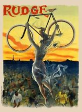 """Rudge Vintage Bicycle Poster - Cycling 24"""" x 36"""""""