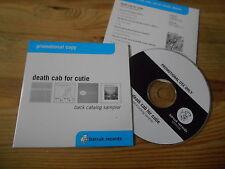 CD Pop Death Cab For Cutie - Back Catalog Sampler (8 Song) Promo BARSUK cb