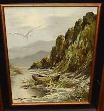 RAYMAR RIVER MOUNTAIN LANDSCAPE ORIGINAL OIL ON BOARD PAINTING