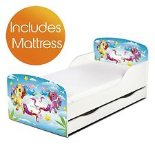 MAGICAL PONY MDF TODDLER BED + STORAGE & SPRUNG MATTRESS