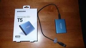 Samsung Portable SSD T5 250GB capacity. As new.