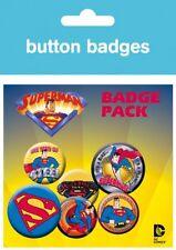 Superman - Logo It's A Bird Man Of Steel 6 Buttons Button Set (15x10cm) #64169