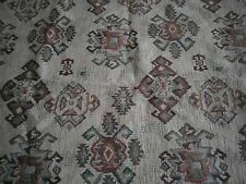 """BROWN MULTI PATTERN REVERSIBLE UPHOLSTERY MATERIAL. SIZE 31"""" x 68"""""""