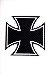 Deutsche Eisernes Kreuz Auto Carbon Aufkleber Car Kult Sticker  Wandtatoo GT67