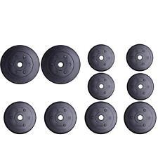ScSPORTS® 27,5kg Hantelscheiben Set 2x5/4x2,5/6x1,25 kg Gewichte 30mm Kunststoff