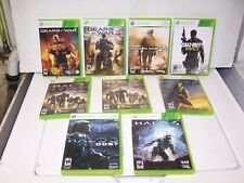 Lot of 9 Xbox 360 Video Games Call Of Duty Halo Reach Odst Gears Of War 3 More