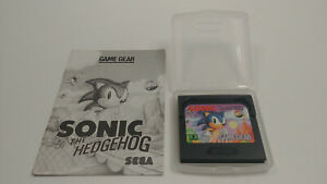 SONIC THE HEDGEHOG - SEGA GAME GEAR - WITH MANUAL