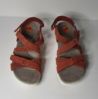Earth Origins Westfield Winona Women's Burnt Orange Suede Sandal 9 1/2 M New