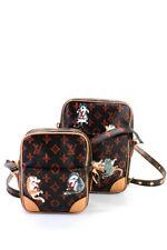 "Louis Vuitton x Grace Coddington ""Catogram"" Paname LTDE821 Camera Bag Brown Red"