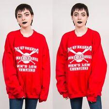 Womens 90's Vintage Red City of Brighton Softball Sweatshirt Sports USA 20 22