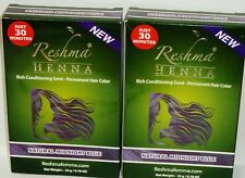 2 Reshma HENNA Rich Conditioning Semi Permanent Hair Color NATURAL MIDNIGHT BLUE