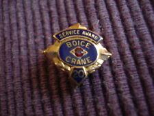 Boice Crane Woodworking Machinery 20 Year service pin/Toledo