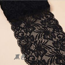 15cmWidth Flower Elastic Stretch Lace Trim Ribbon Sewing Dress Skirt Handicrafts