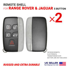 2x Smart Remote Key Shell Case For Range Rover Jaguar 5 Button High Quality Fits Range Rover