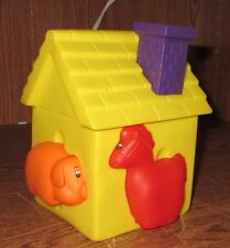 """Toddler Soft Play House Farm Animals 6 1/2"""" Yellow Removeable Animal Chimney Toy"""