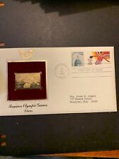 1983 - SUMMER OLYMPICS (Discus).  Gold Replica FDC (by PCS). Addressed